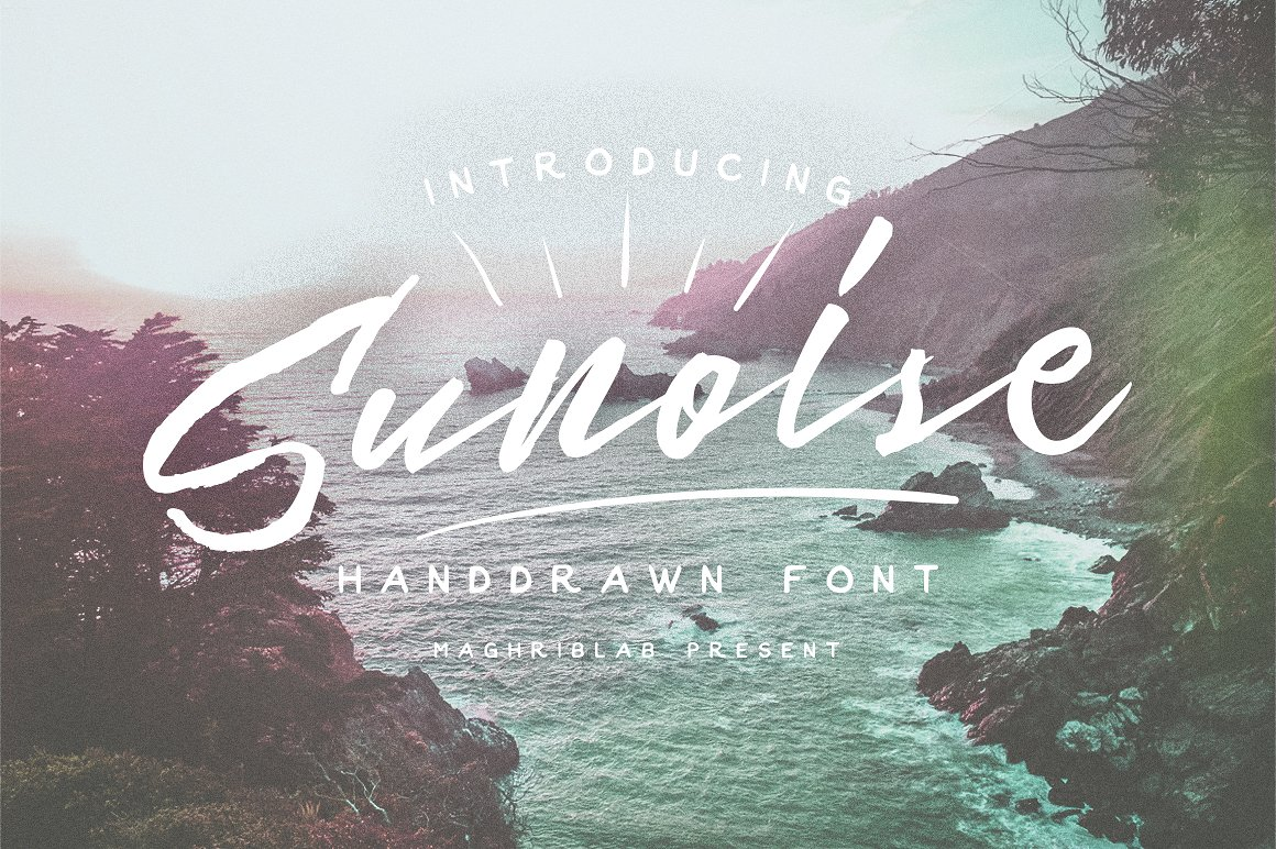 Sunoise Hand Drawn Script example image 1