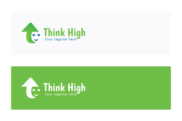 Think High - Iconic Stock Logo Template example image 2