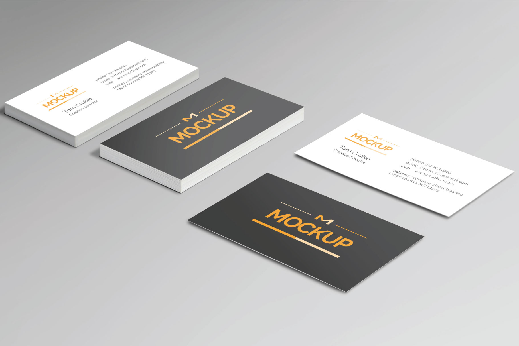 6 Style Business Card Mockups example image 2