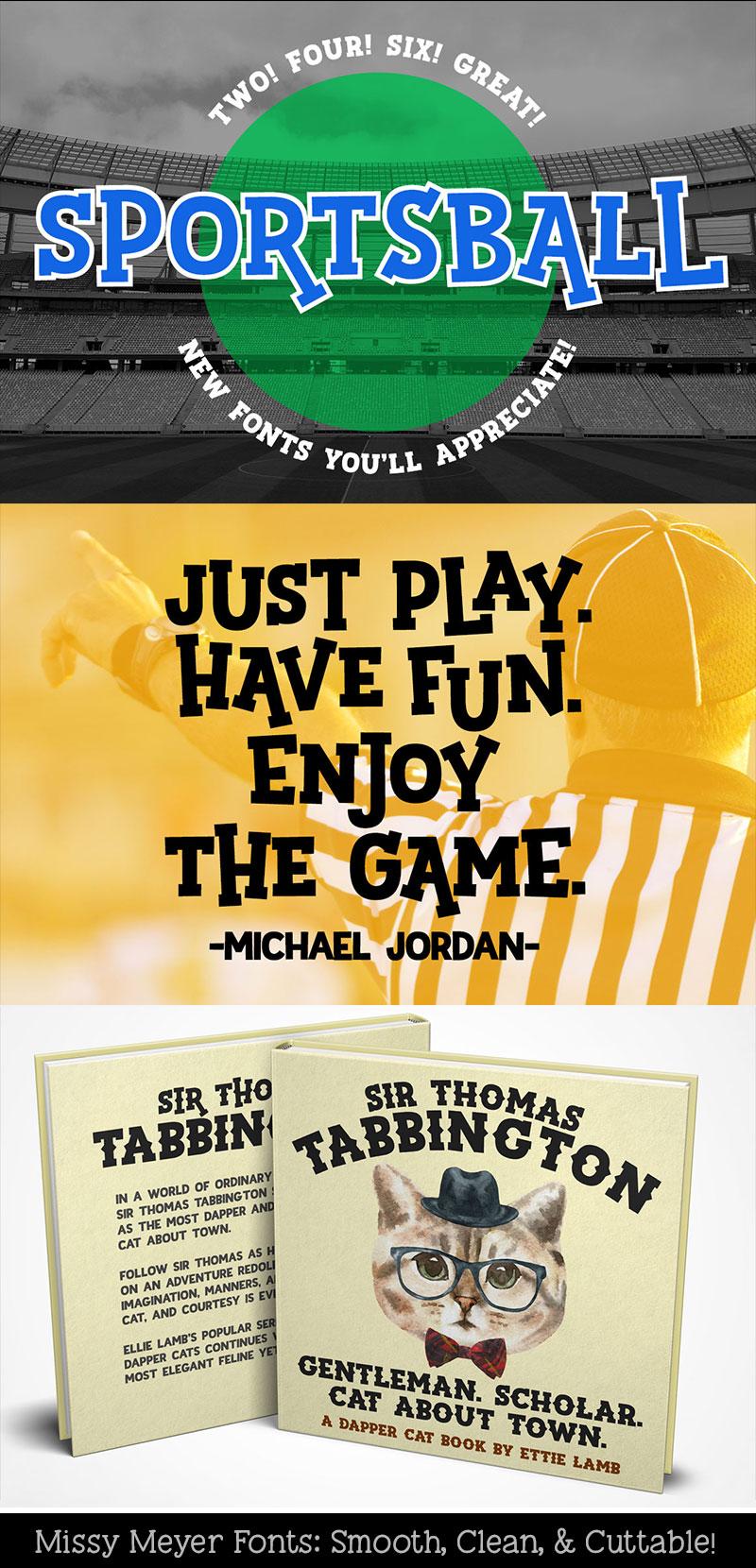 Sportsball fun font with alternates! example image 8