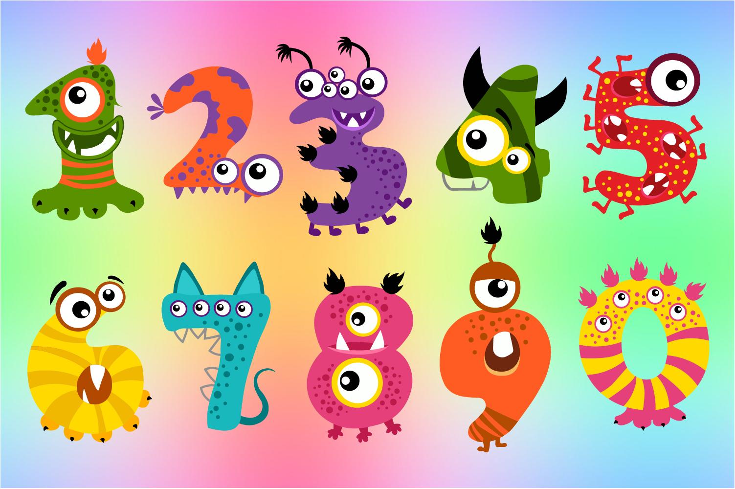 Halloween Monster Numbers Bundle example image 2