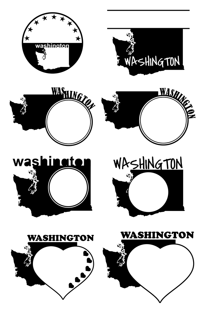 Washington DC Monograms SVG, JPG, PNG, DWG, CDR, EPS, AI example image 3