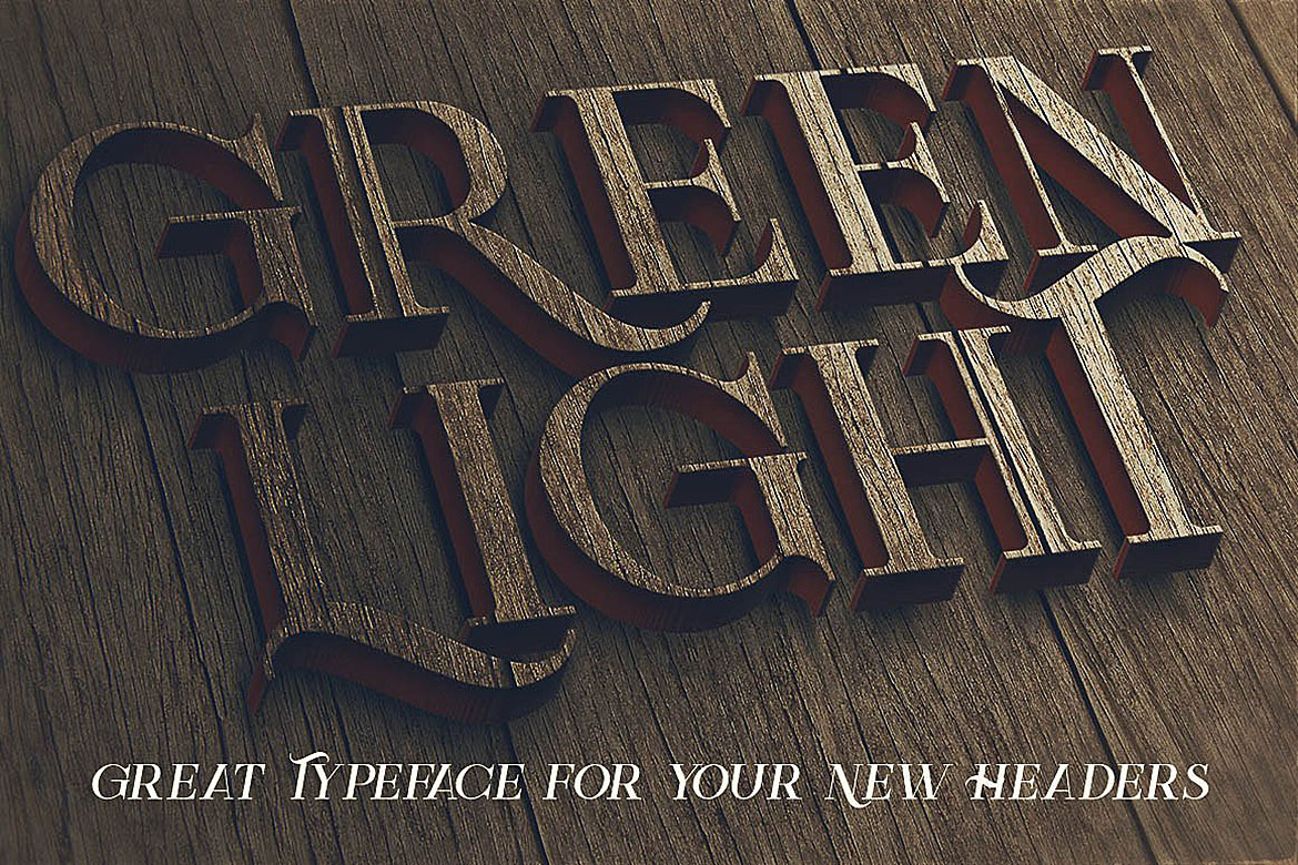 Green Light - Vintage Style Font example image 5
