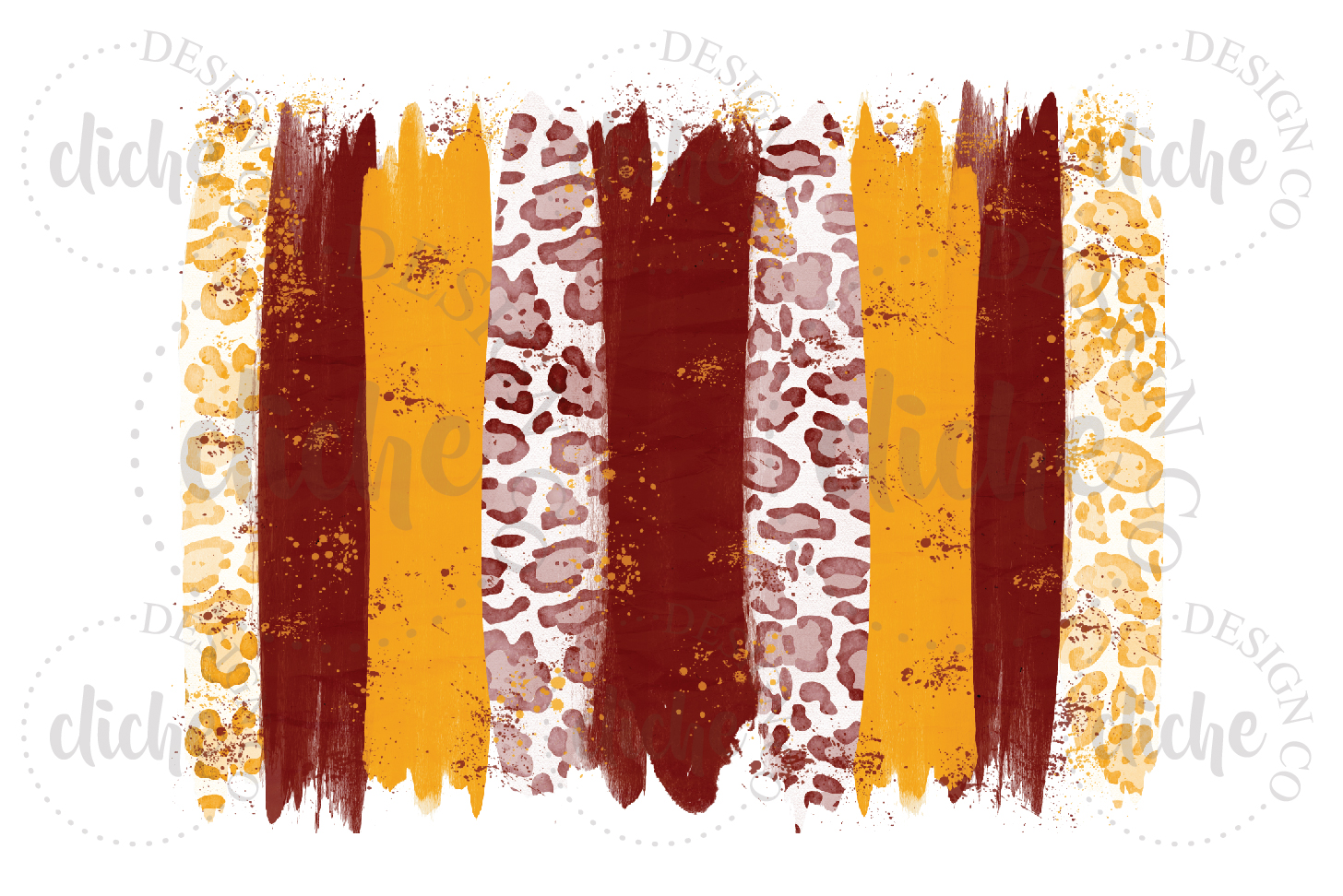 Red Yellow Paint Stroke Sublimation Design Background example image 1