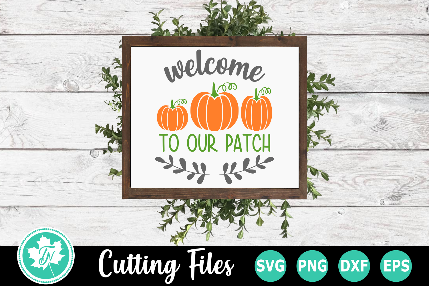 Welcome to our Patch - A Fall SVG Cut File example image 1