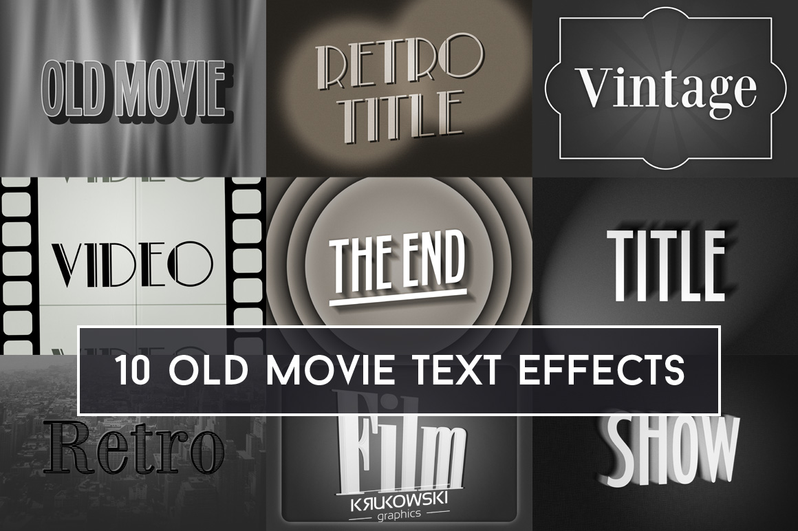 Old Movie Title Text Effect Mockup example image 1