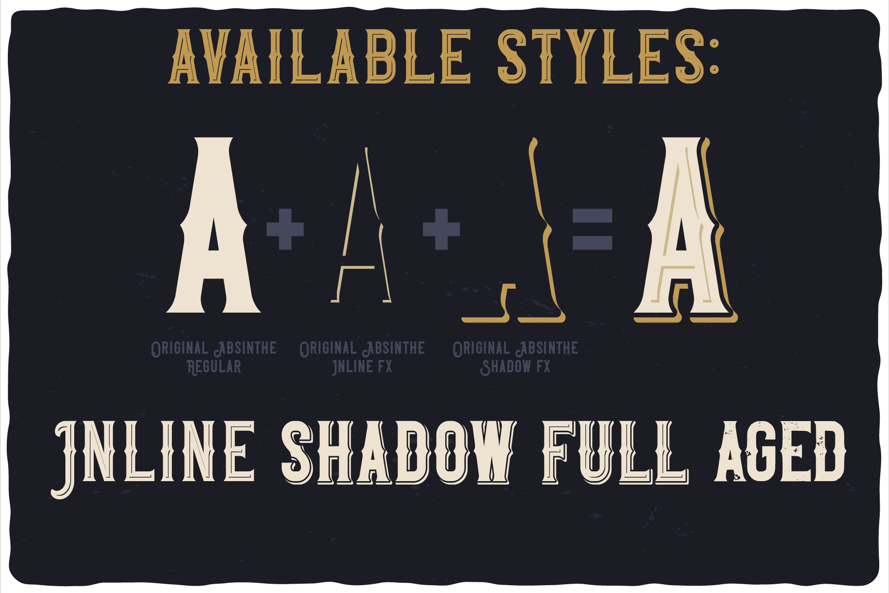 Original Absinthe Layered Font example image 4