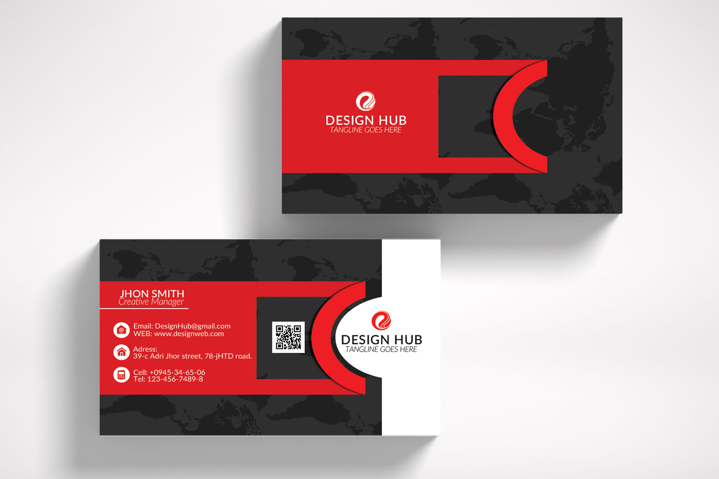 Stylish Business Cards Template example image 3