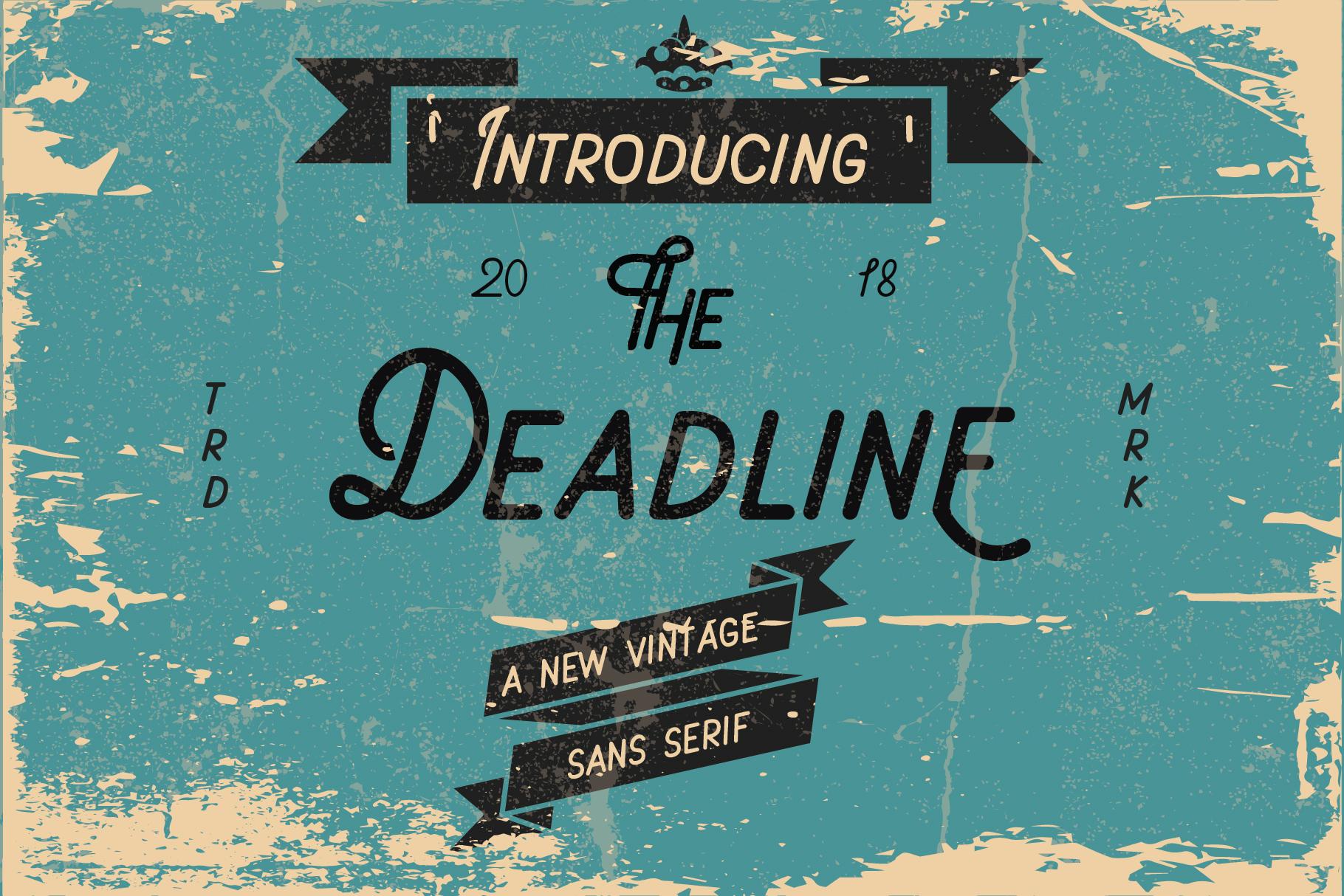 Deadline Font - Sans Serif example image 1