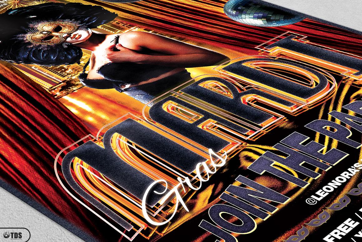 Mardi Gras Flyer Template V1 example image 5