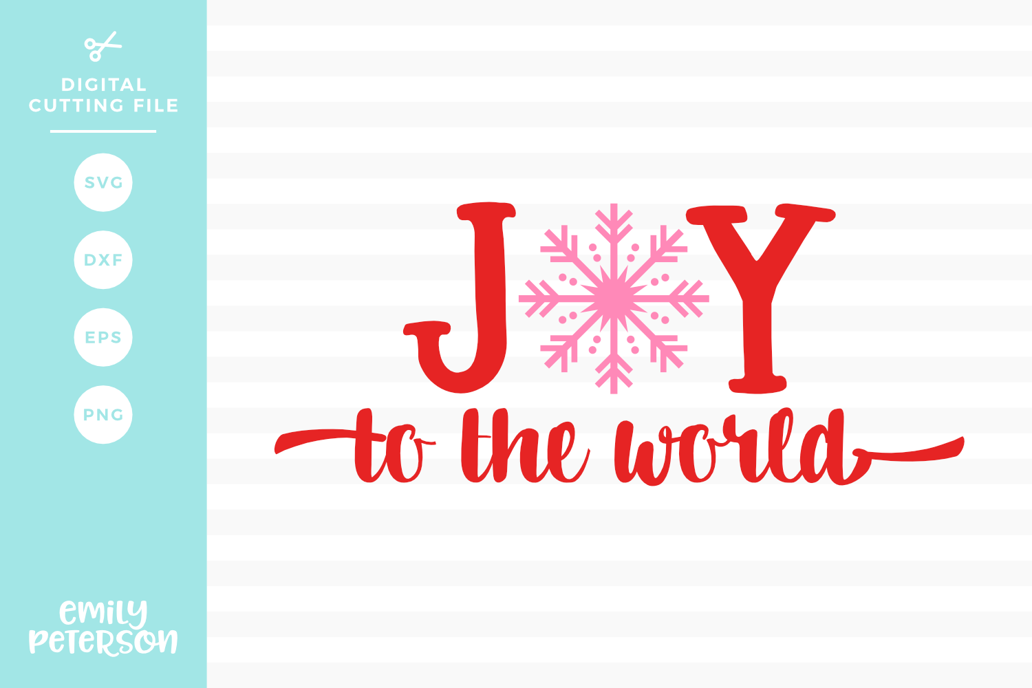 Joy To The World SVG DXF EPS PNG example image 1