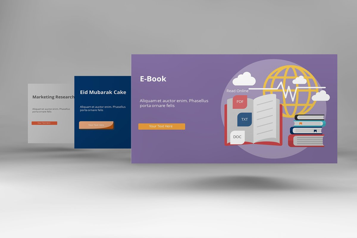 Visual Business Keynote Template example image 6
