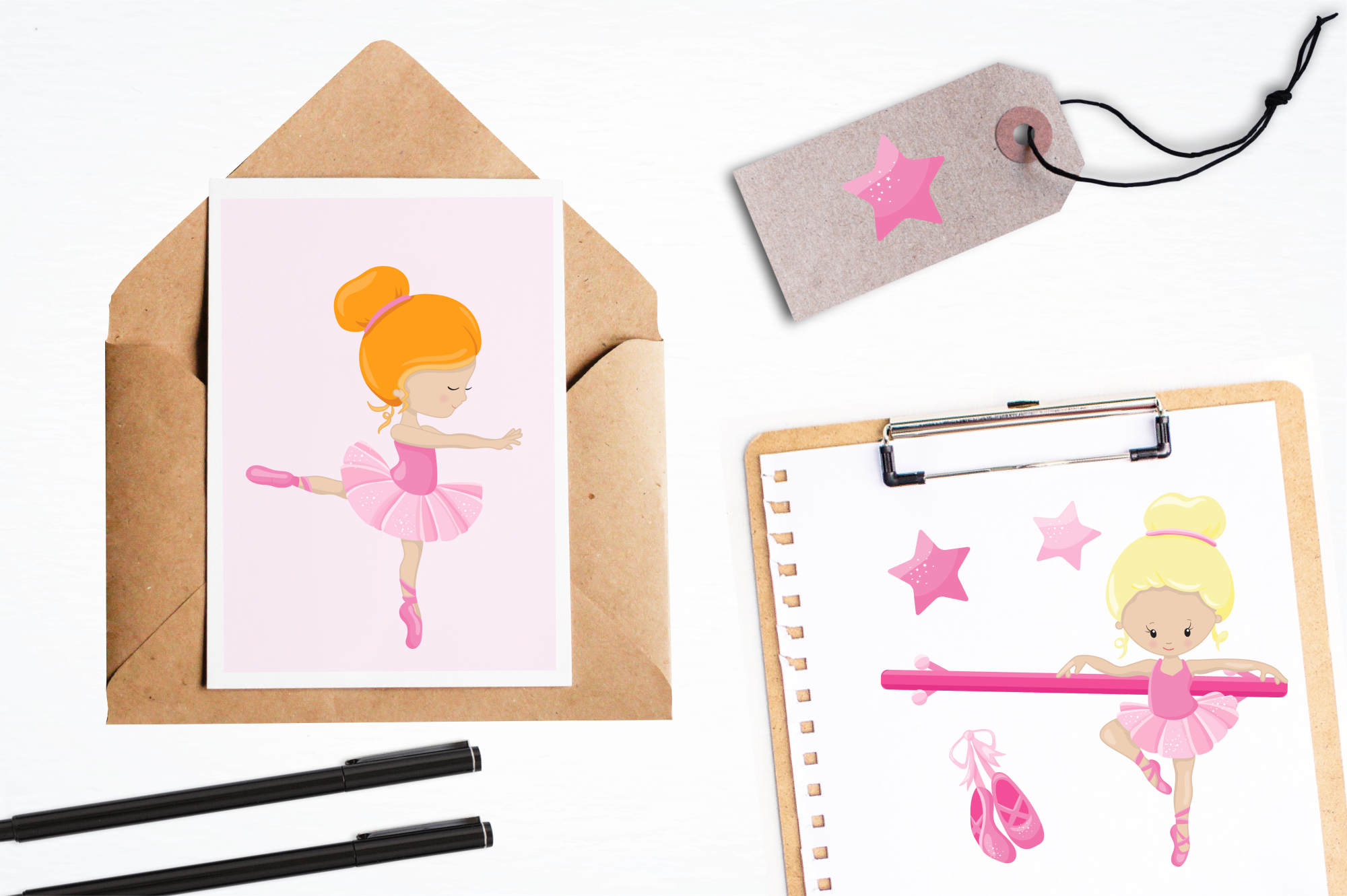 Ballet Class  graphics and illustrations example image 4