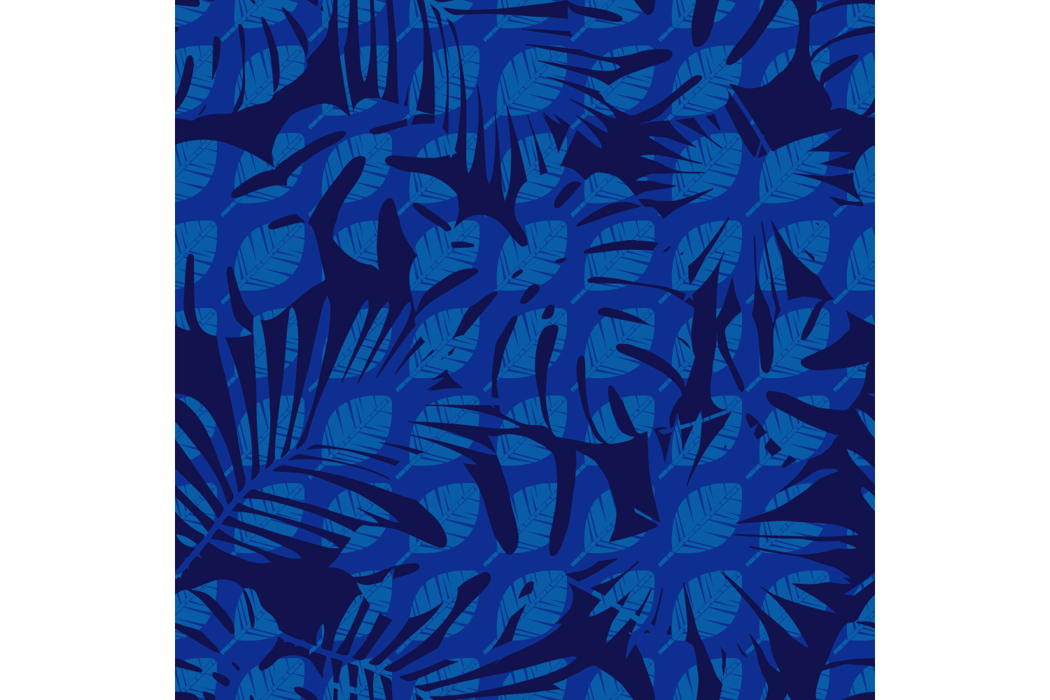 Tropical palm leaves. Set of 10 seamless patterns. example image 6