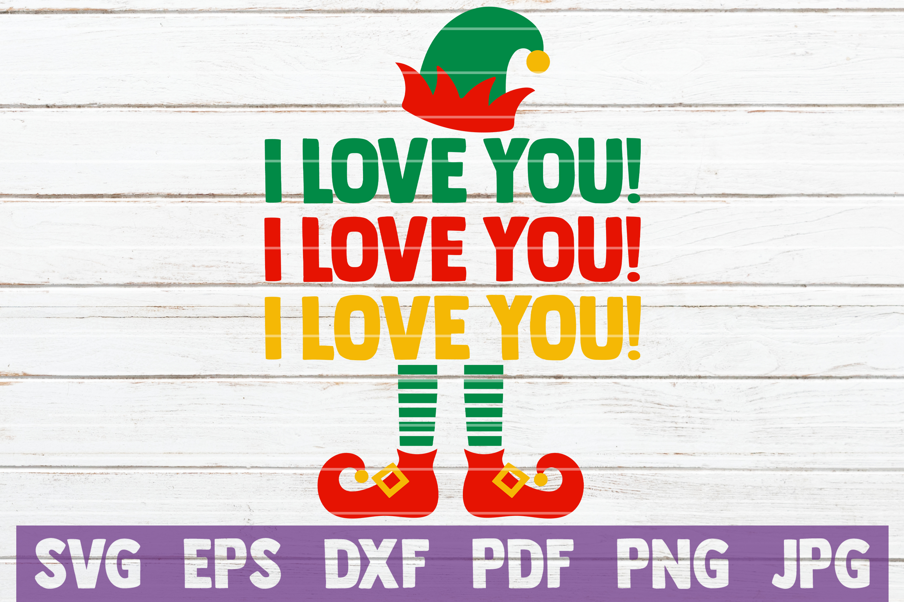 I Love You! I Love You! I Love You! SVG Cut File example image 1