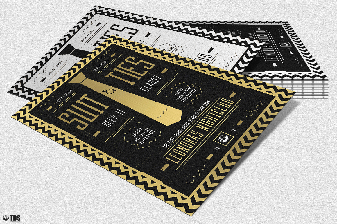 Suit and Tie Flyer Template V3 example image 8