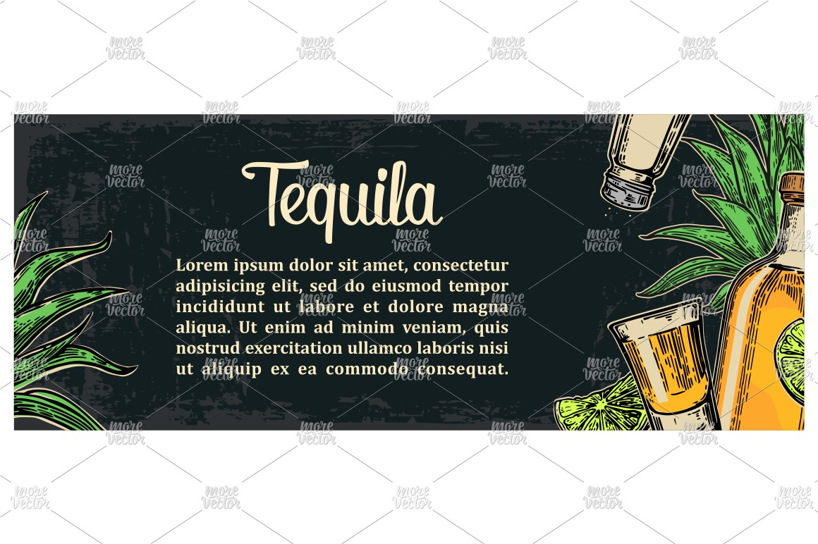 Mexican traditional food restaurant menu engraved example image 3