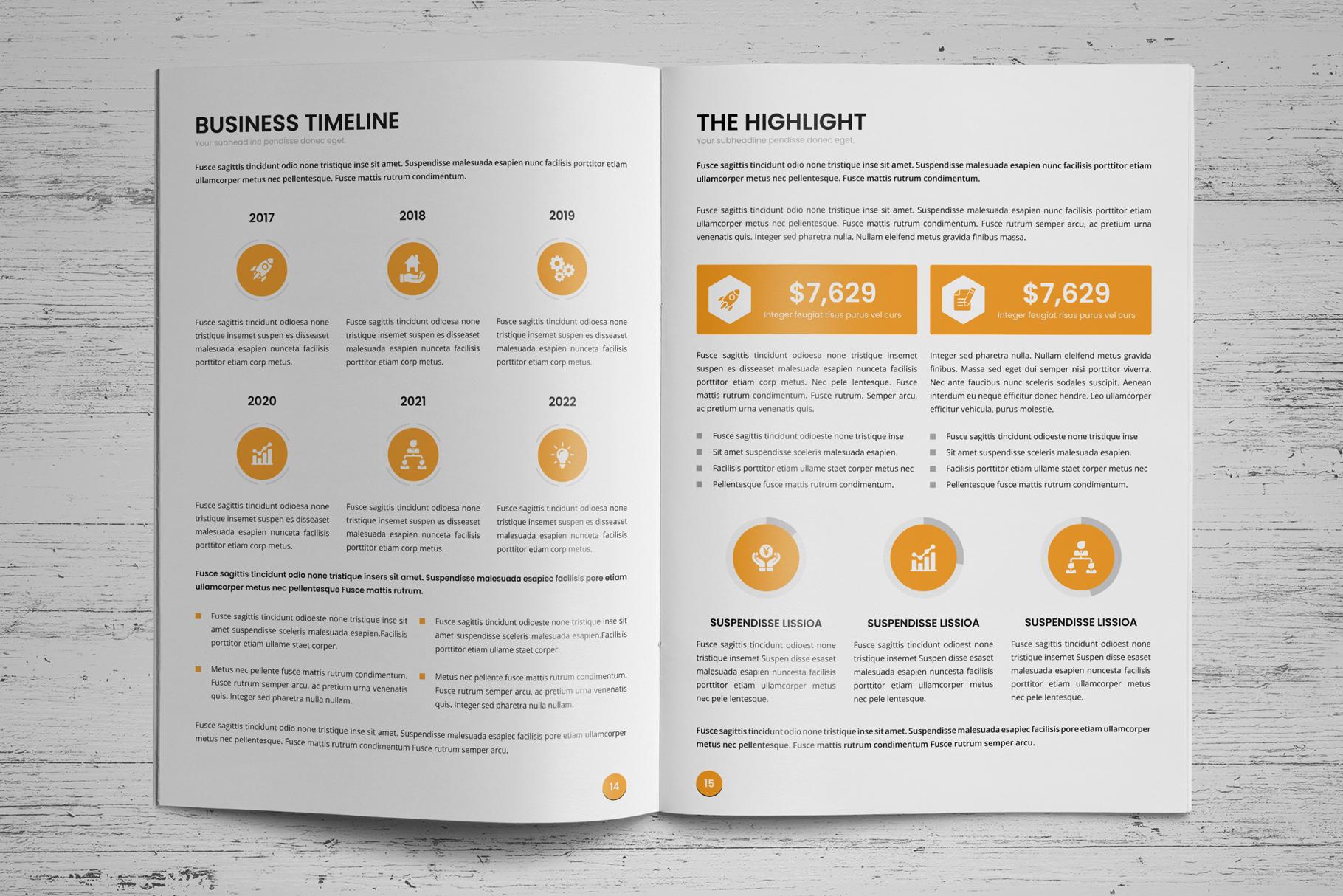 Annual Report Design v6 example image 10