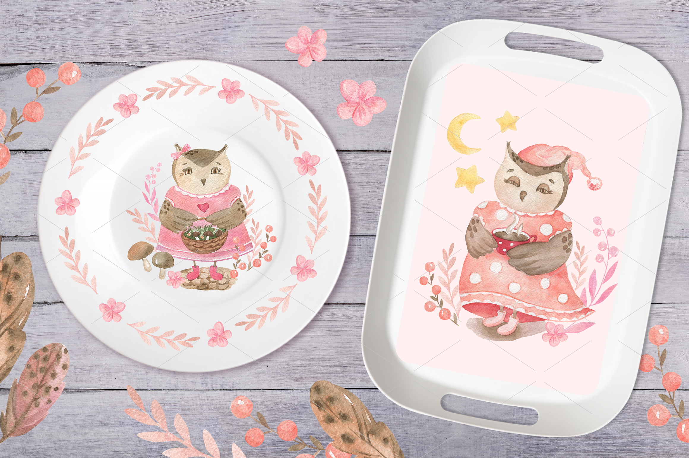 Cute Owls Collection example image 7