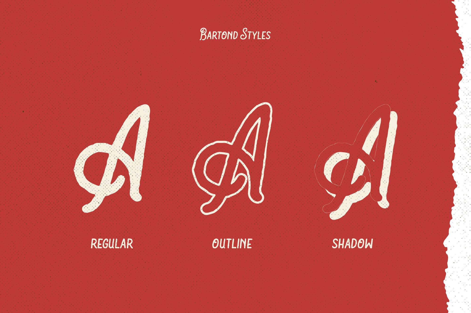 Bartond Typeface example image 2