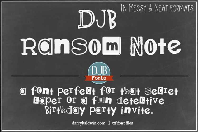 DJB Ransomed Font Bundle example image 3
