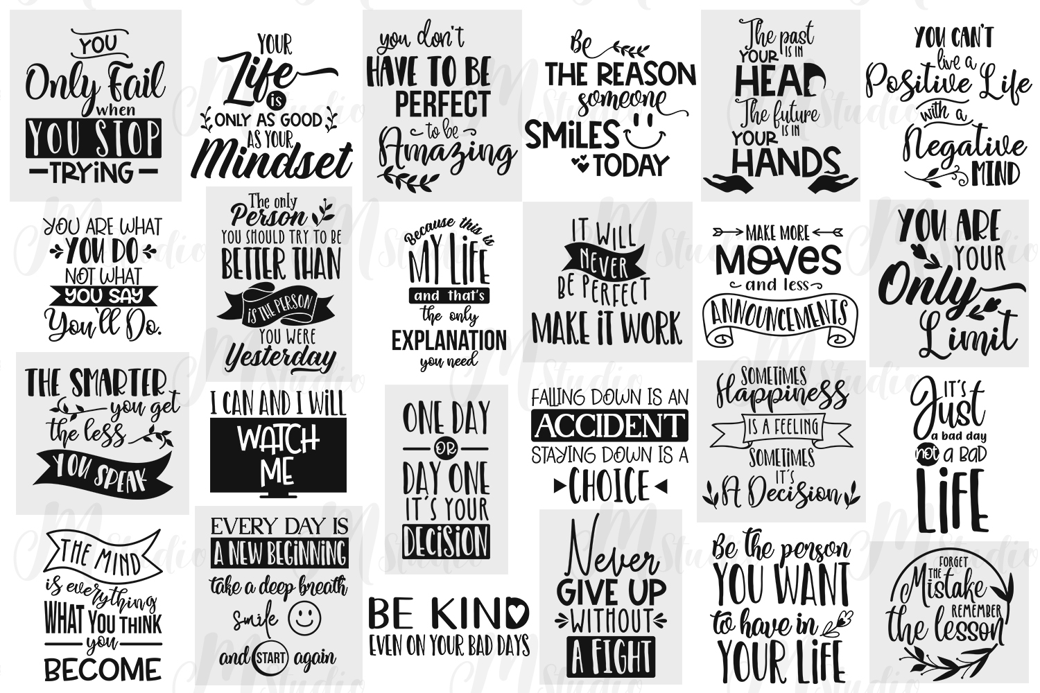 Inspirational Quotes svg Bundle example image 2