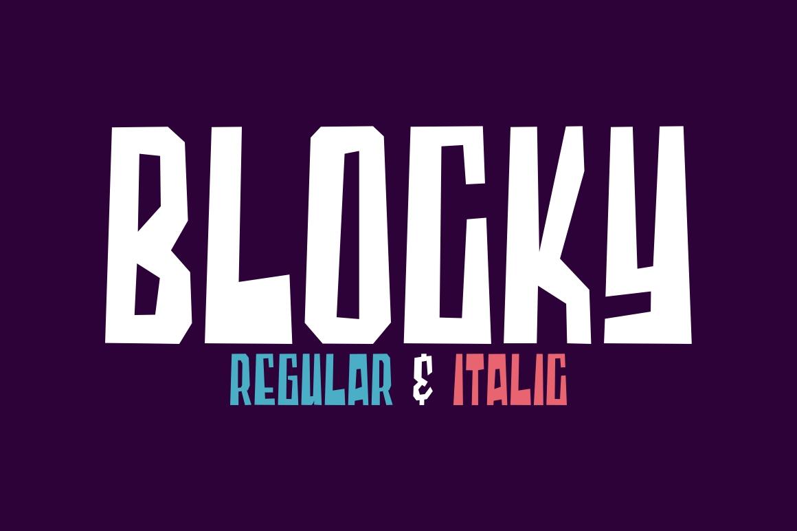 Blocky - Regular & Italic example image 1