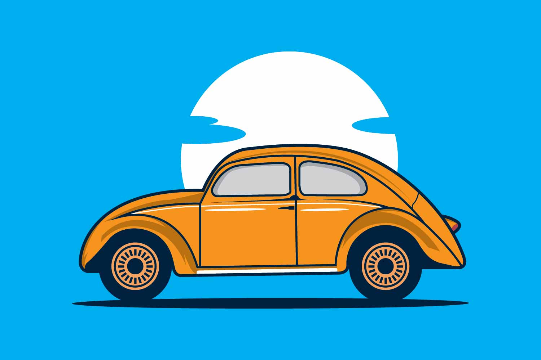 Volkswagen Beetle design template example image 1