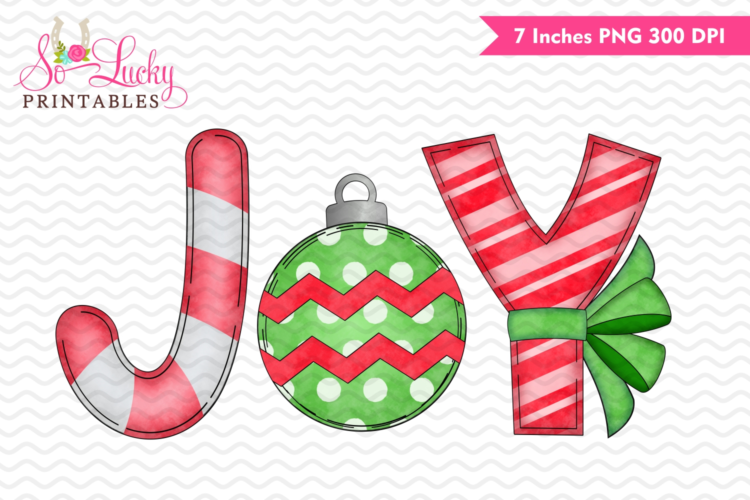 Christmas joy printable sublimation design example image 1