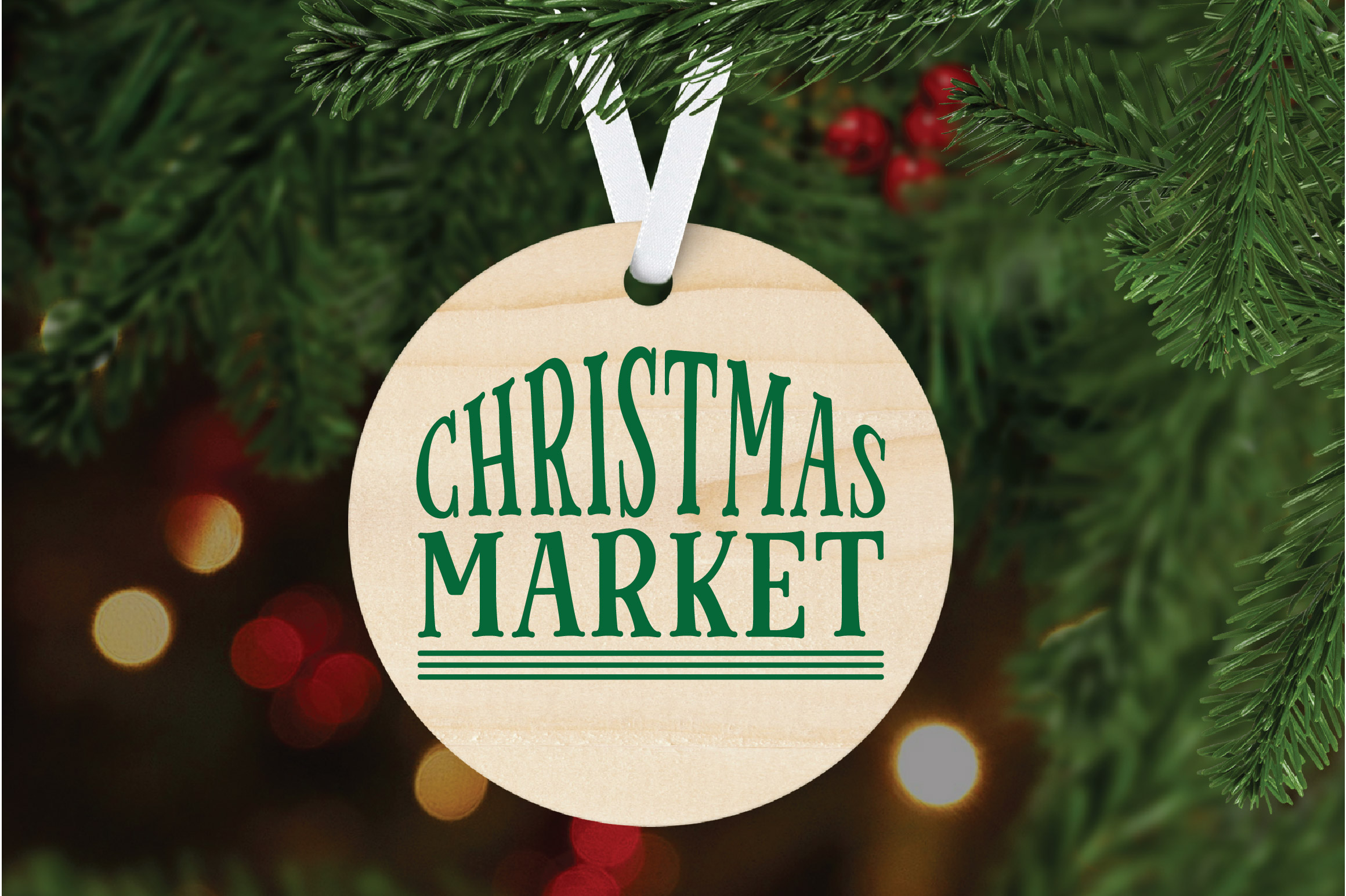 Christmas SVG Cut File - Christmas Market SVG DXF PNG EPS example image 6