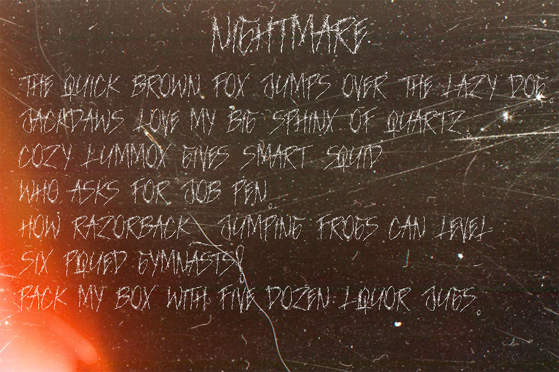 NIGHTMARE | HORROR & HELLOWEEN Font example image 7
