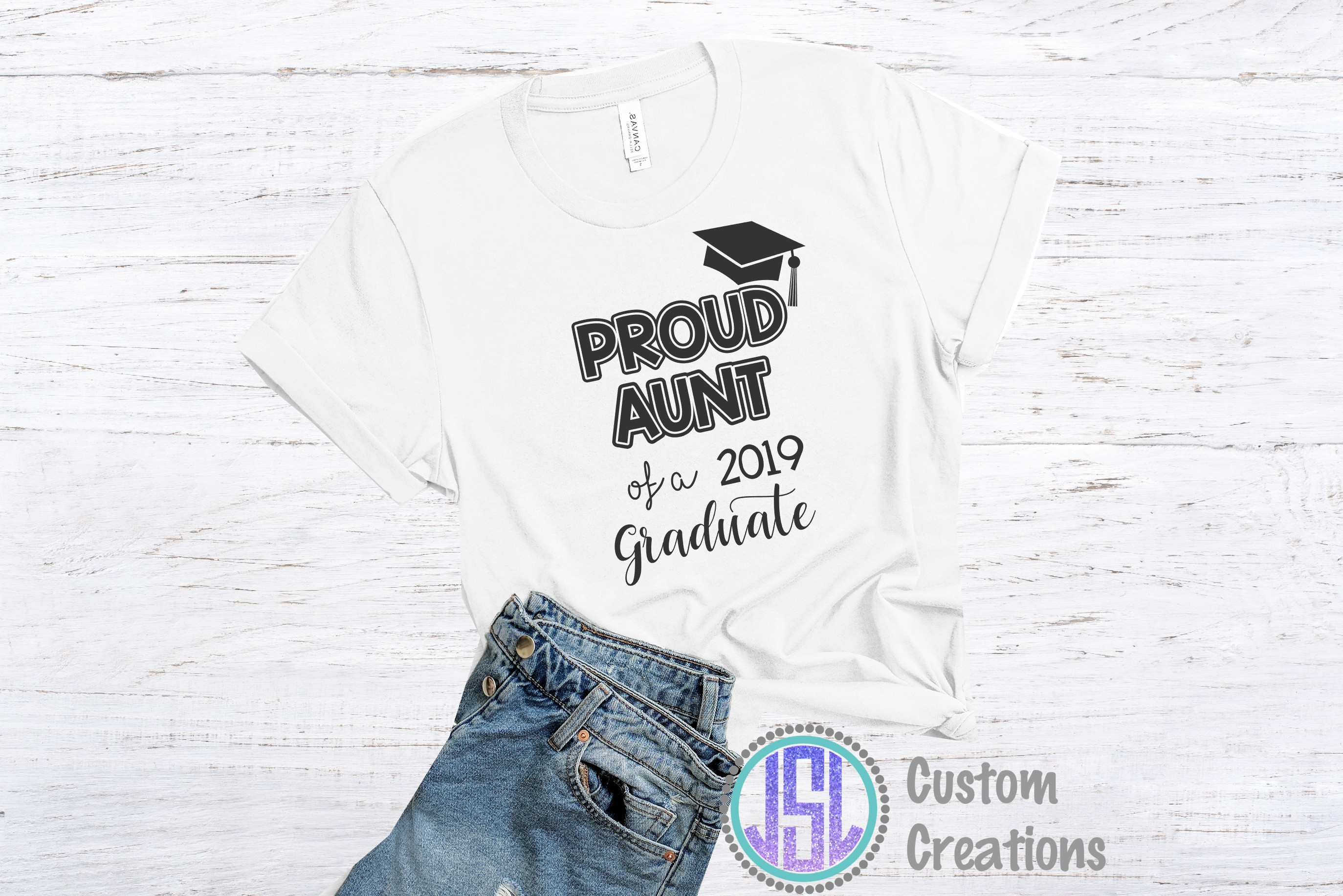 Proud of a 2019 Graduate Bundle Set of 12 | SVG DXF EPS PNG example image 2