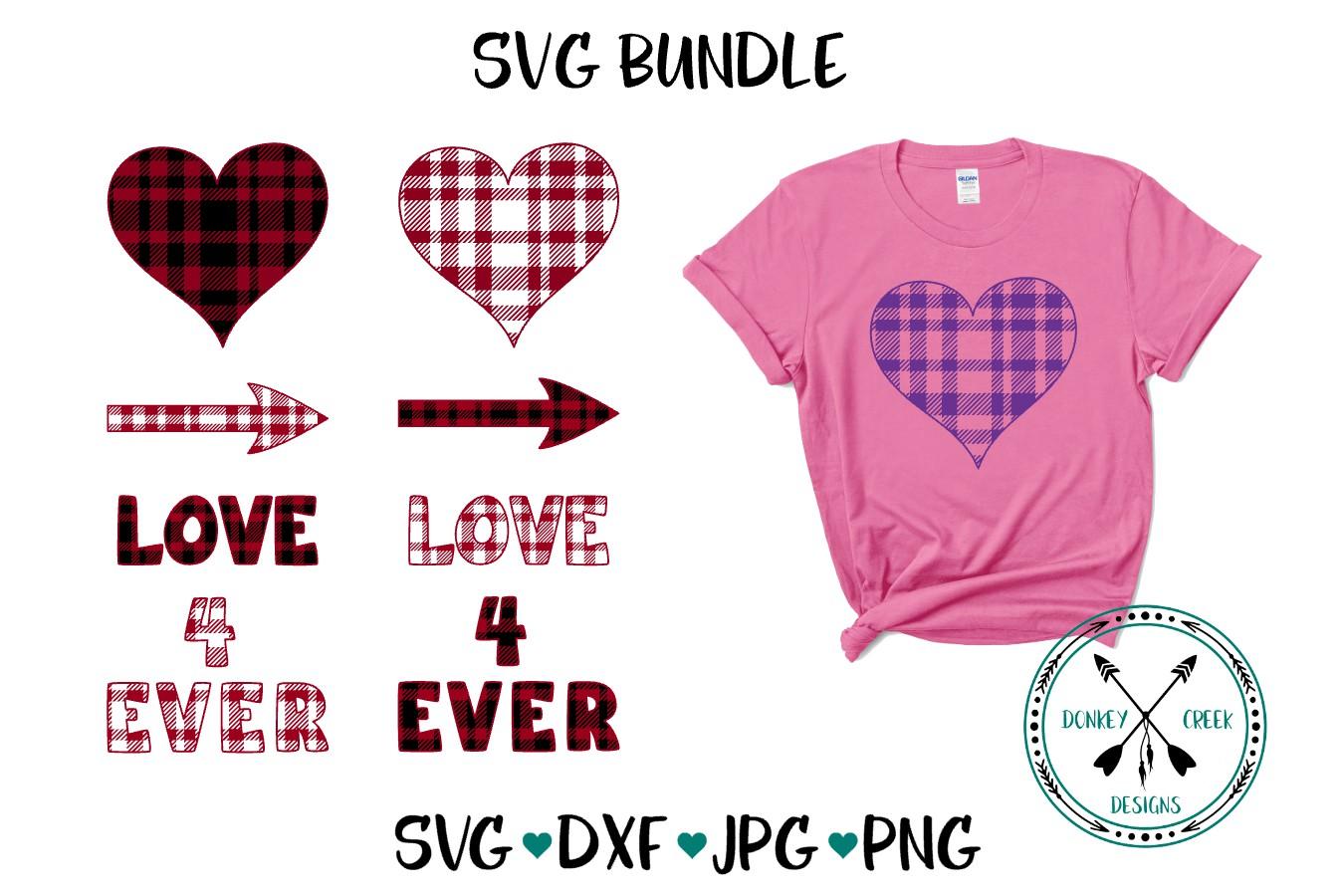 Plaid Valentine's Day SVG Bundle example image 1