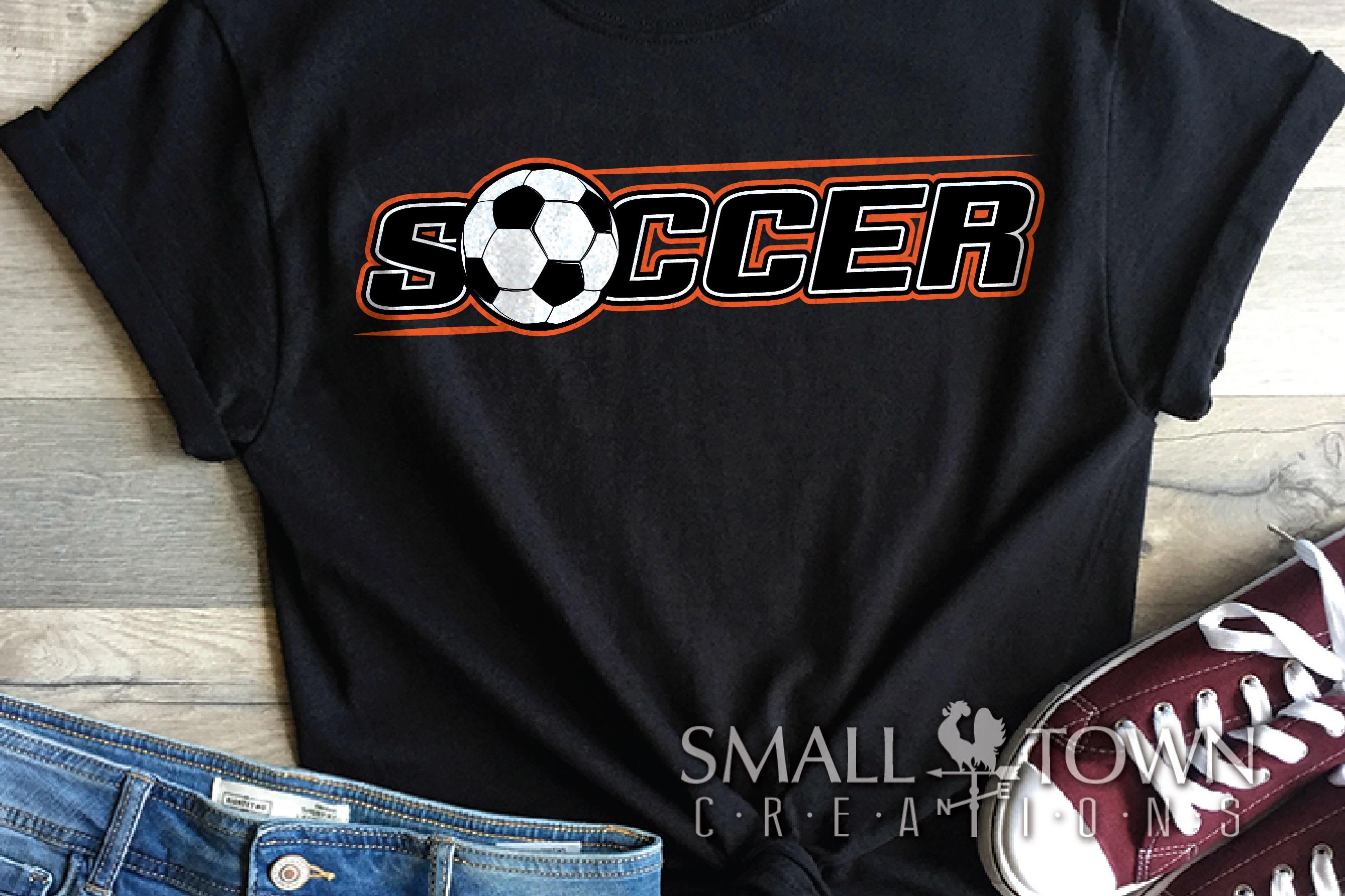Soccer bundle, Soccer ball, team logo, PRINT, CUT & DESIGN example image 5