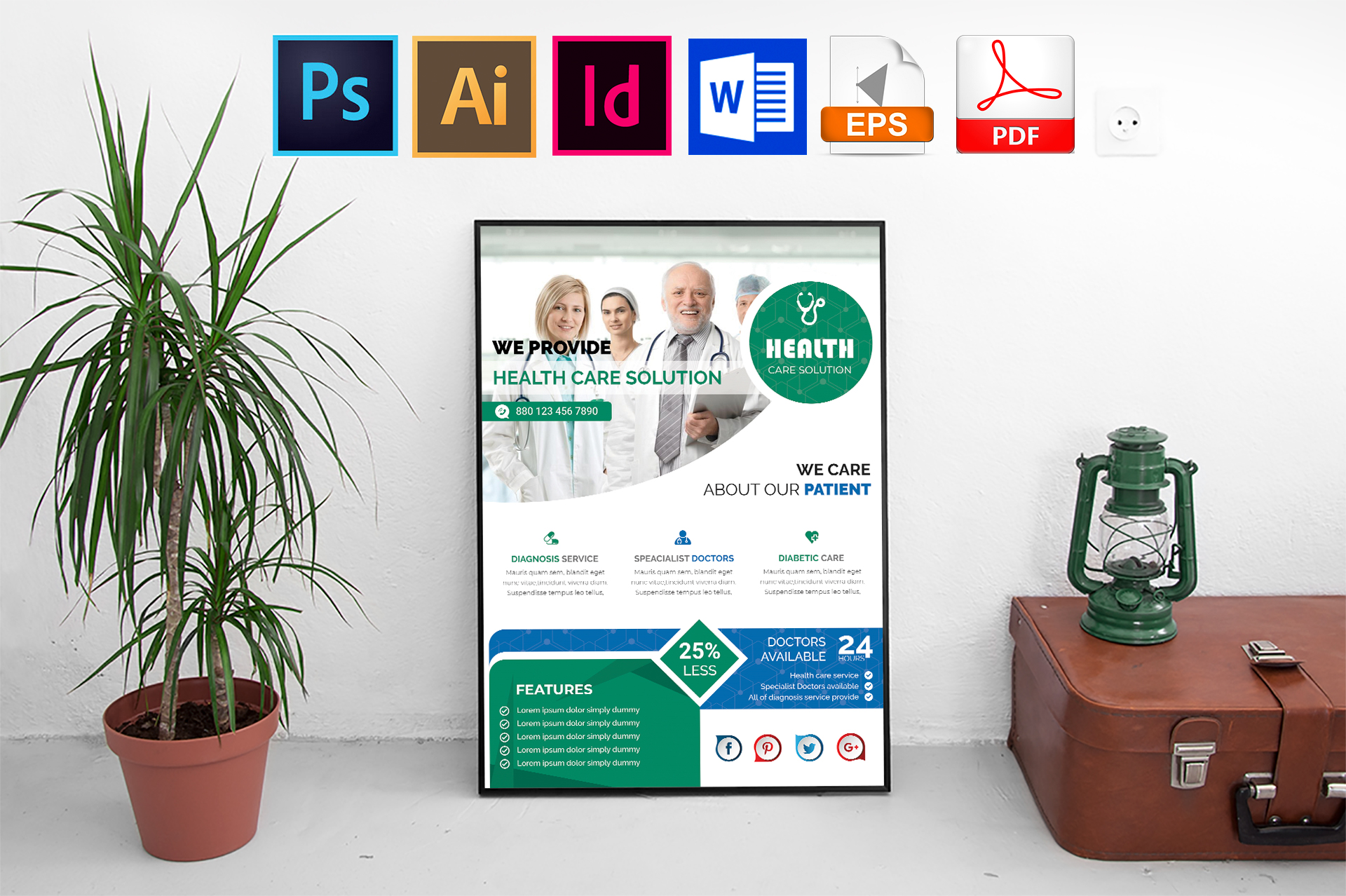 Poster | Doctor & Medical Flyer Vol-01 example image 1