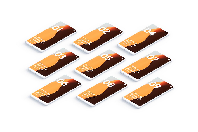 Samsung S10 - 21 Clay Mockups - 5K - PSD example image 29