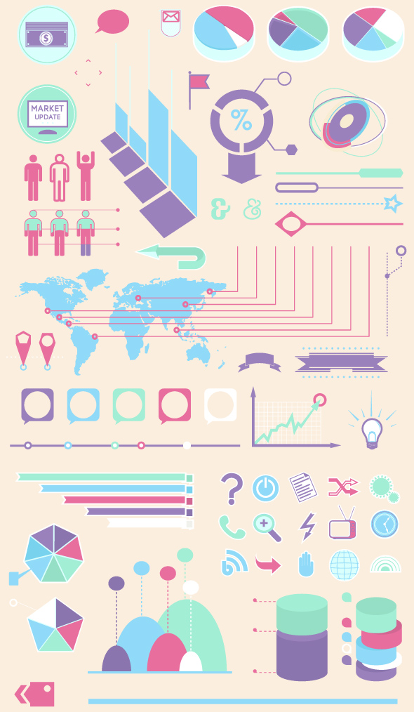 infographics vector set example image 3