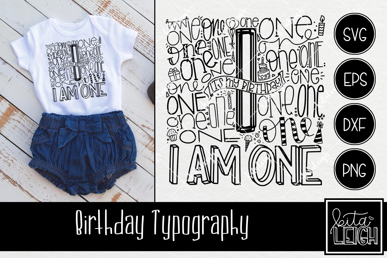 Birthday Typography Bundle example image 2