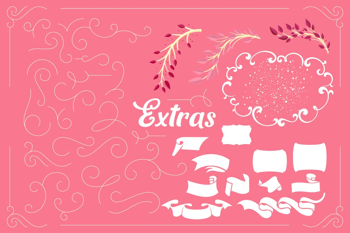 Mon Cheri Typeface + Extras example image 6