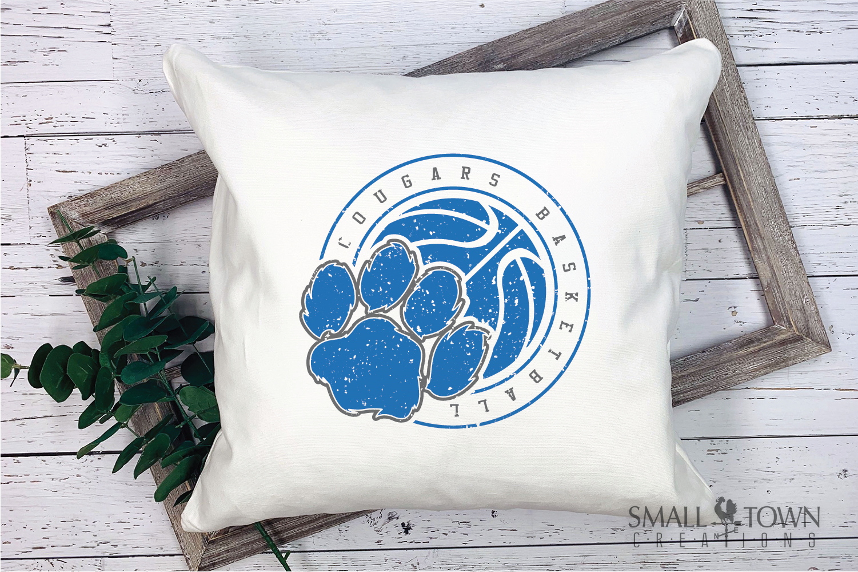 Cougar basketball, Cougars mascot, PRINT, CUT, DESIGN example image 8