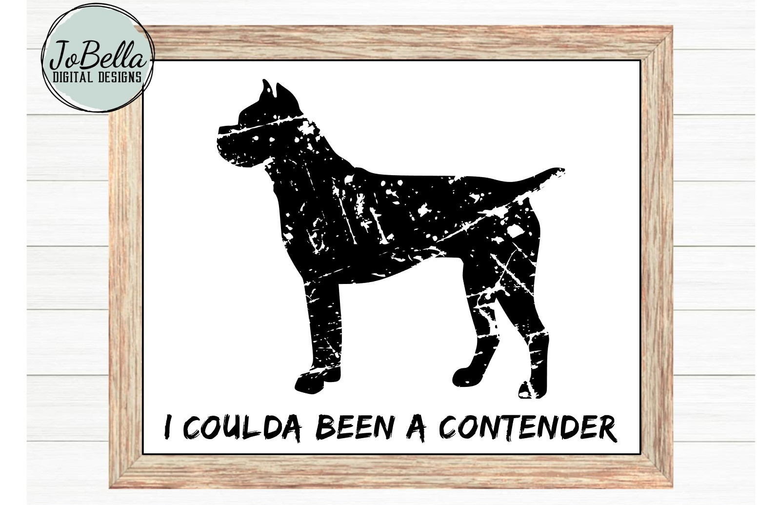 Funny Distressed Boxer SVG and Printable Dog Lover Design example image 2