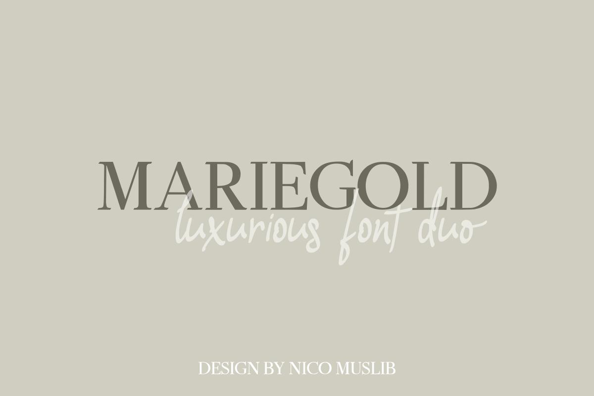 Mariegold Luxury Font Duo example image 4