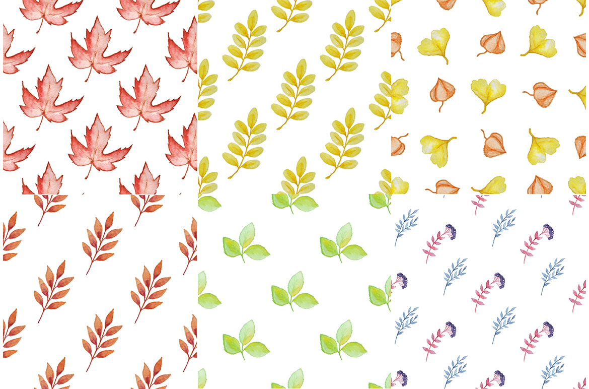 Watercolor Autumn Design Kit example image 8