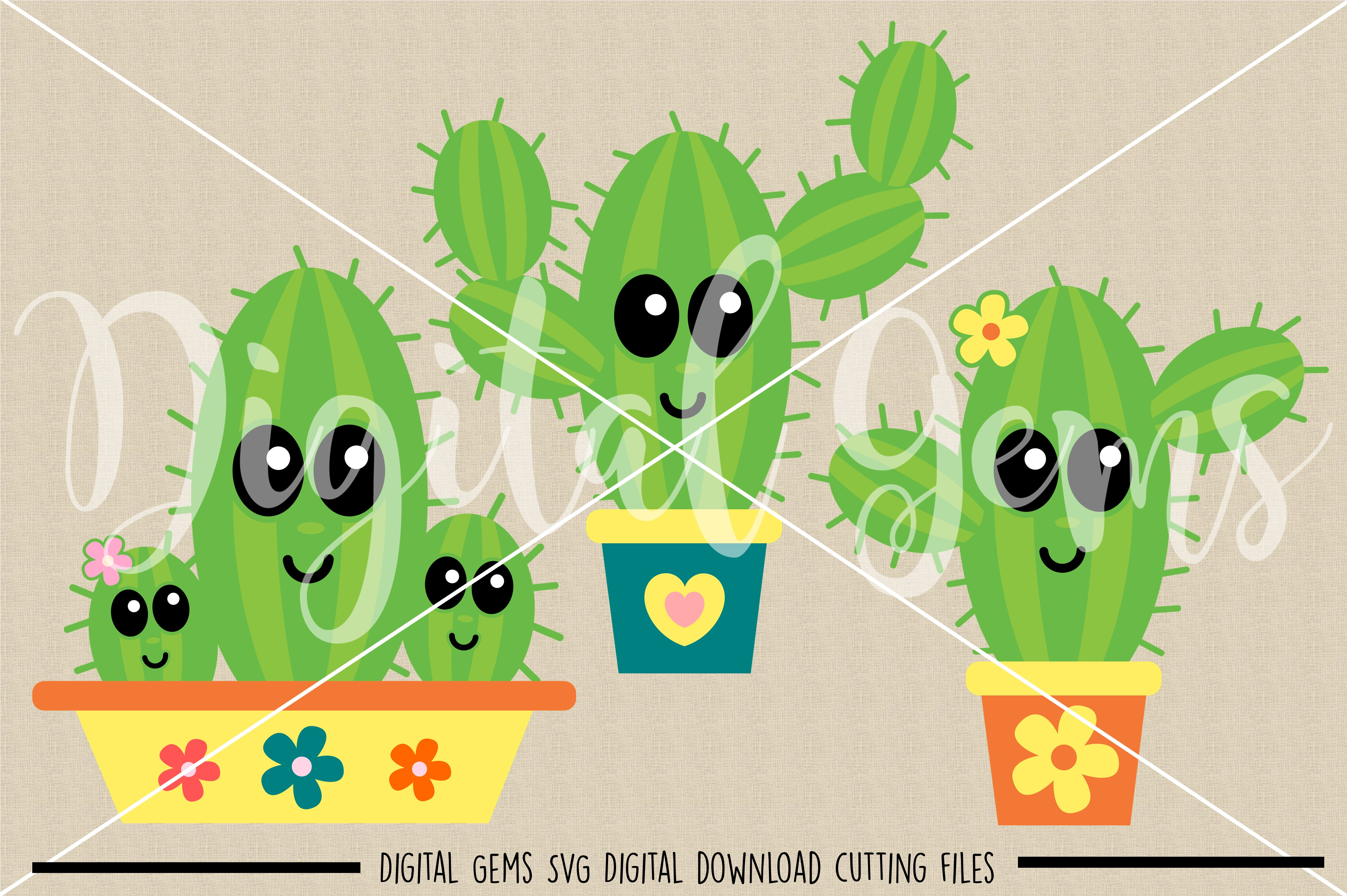 Cactus SVG / PNG / EPS / DXF Files example image 5