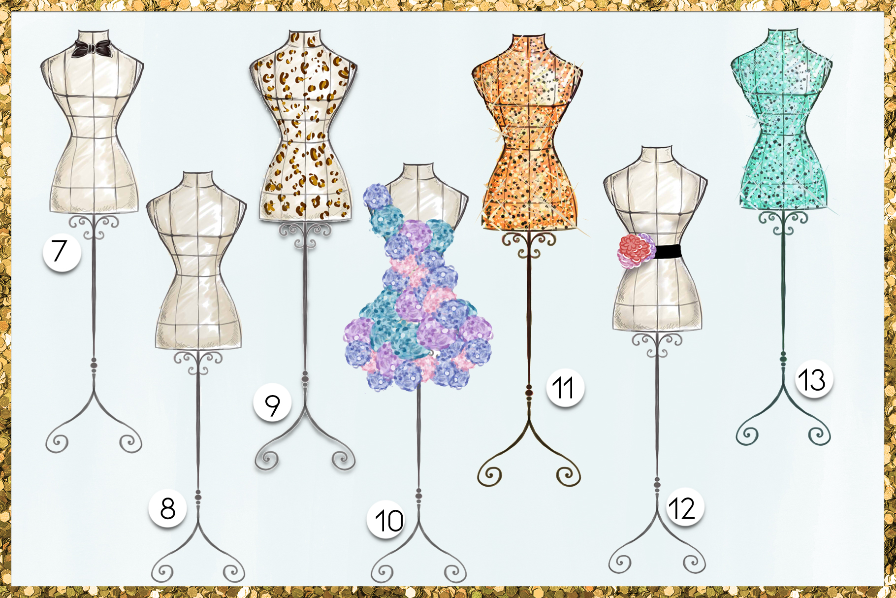 Fashion Png Cliparts - Mannequins - 19 png files on transpar example image 5