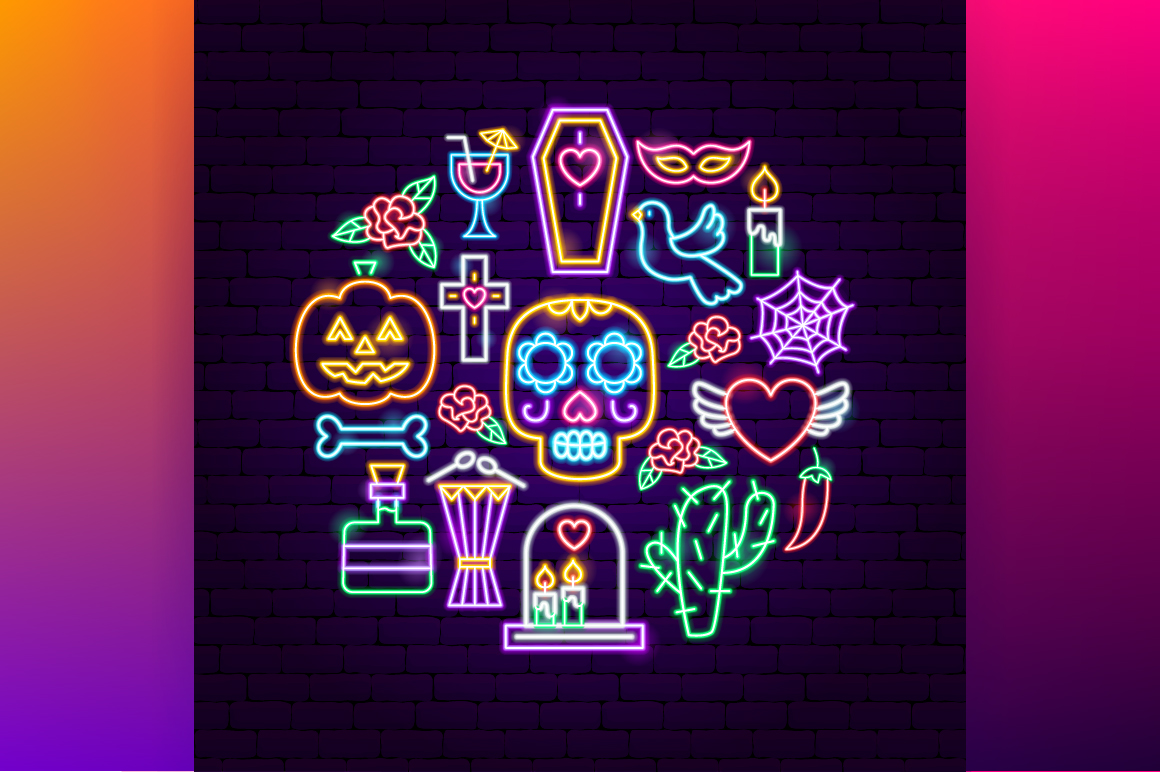 Day of the Dead Neon example image 6