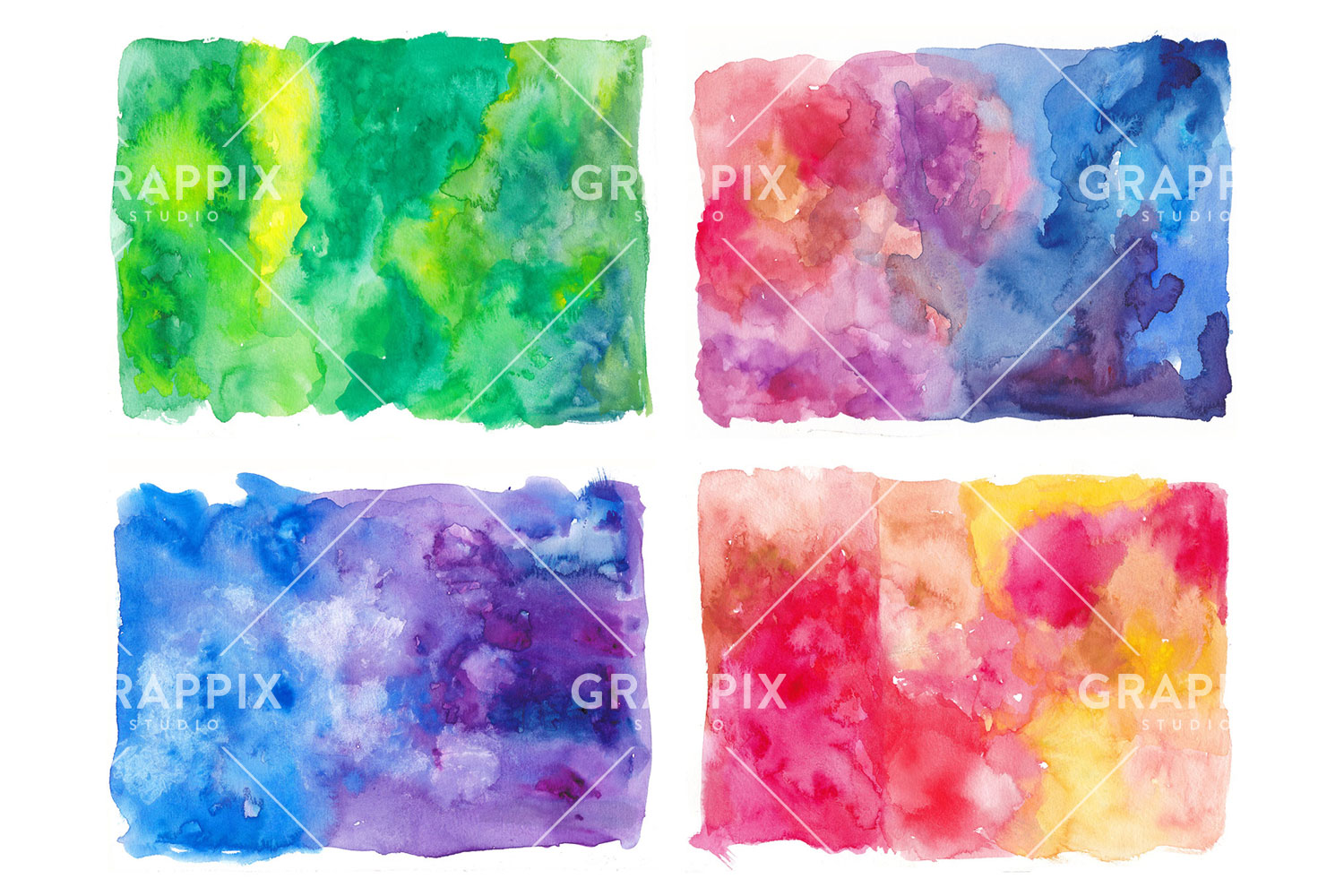 14 Abstract Colorful Watercolor Backgrounds example image 5