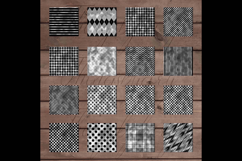 30 Seamless Black Silver Foil Basic Home Decor Print Pattern example image 8