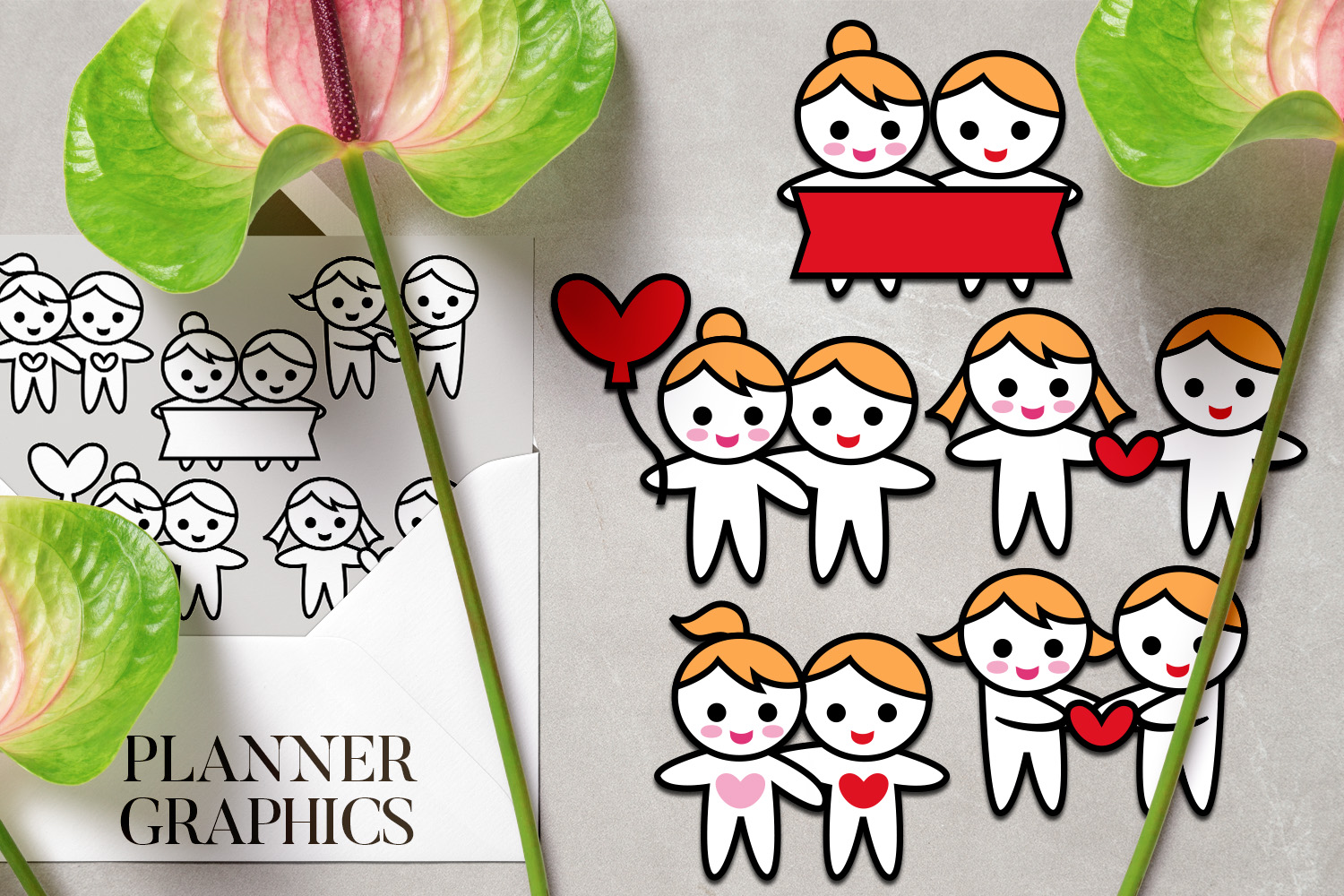 Holidays Bundle - Planner Graphic Illustrations example image 12