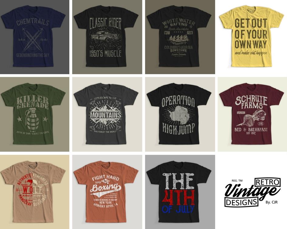 0b6cd25cb 100 Retro Vintage T-Shirt Designs example image 9